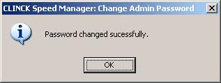 The procedure to change the admin password is as follows: 1) Click the Change Password button. The Change Admin Password dialog box appears.