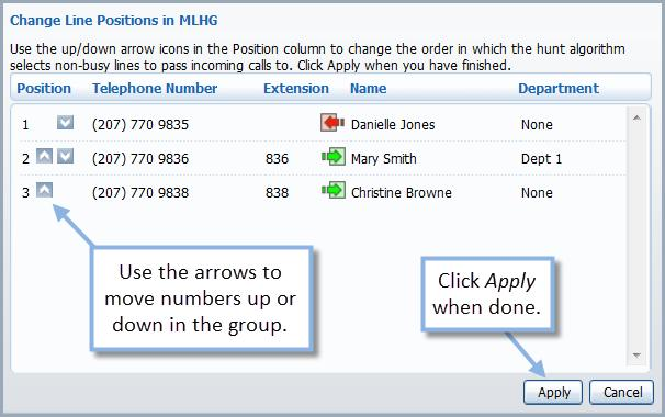 an account into the MLHG using the Groups tab of the individual account. See the CommPortal User Guide for more information on the Groups tab.