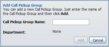 To move call pickup groups between departments: 1. Select the call pickup group using the check box to the left of the call pickup group (Figure 21