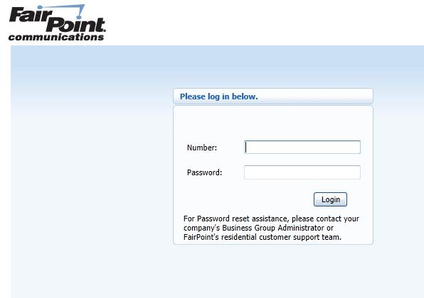 1) Accessing CommPortal for Administrators 1. Go to www.fairpoint.com/hostedpbx from any web browser. 2.