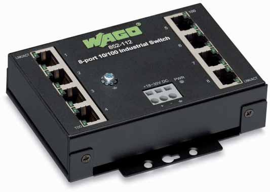 - -Port BASE- Industrial Eco Switch - has ports with each port featuring Auto-negotiation and Auto MDI/MDI-X detection.