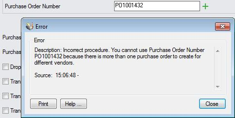 Changing hw POs are created The Create Purchase Order functin will create a PO fr an item that is a cmpnent f a Kit if that Kit is n the Sales Order.
