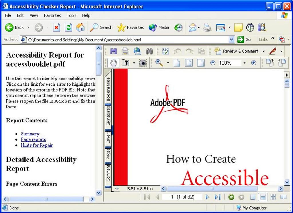 Section One: Checking PDF Documents for