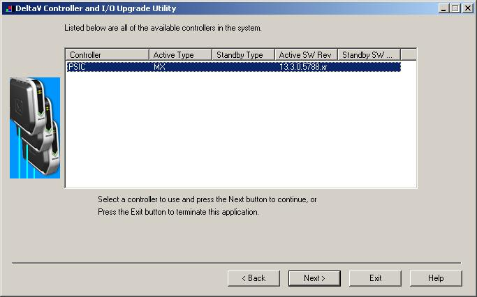 4. The following dialog will appear, listing all the I/O modules in your selected Controller.