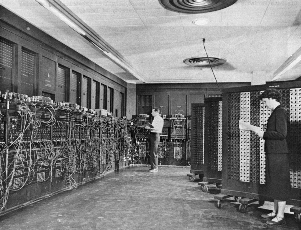 ENIAC (U.Penn., 1946) First Electronic General-Purpose Computer Blazingly fast (multiply in 2.8ms!