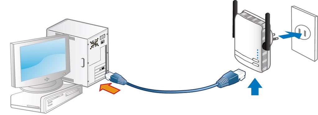 LAN Connection Connect the supplied RJ-45 Ethernet cable to the