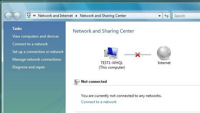 Then click on Network and Sharing Center at the top bar. 3.