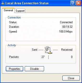 In the Control Panel, double-click on Network