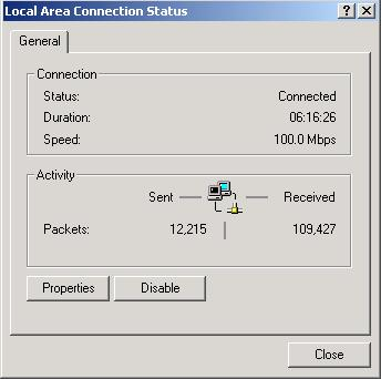 In the Control Panel, double-click on Network and