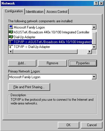 Configuring PC in Windows 95/98/Me 1. 2. Go to Start > Settings > Control Panel.