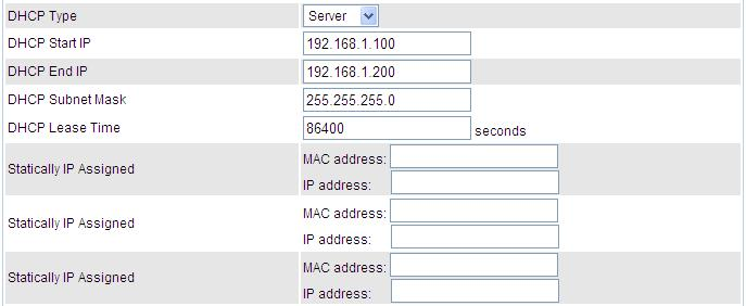DHCP Server DHCP allows networked devices to obtain information on the parameter of IP, Netmask, and so forth through the Ethernet Address of the device.