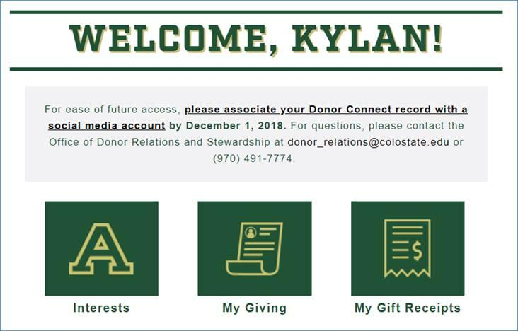 6) Please click on the please associate your Donor