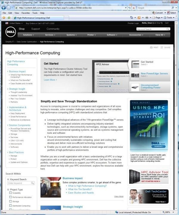 Resources: HPC Advisor - Tool Software application that recommends the best fit Dell products