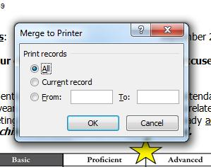 which students letters you want to print. 19. Step 6: Complete the merge. Now it is time to print your letters.