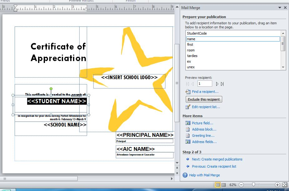 10. Now Step 2: Prepare your publication will show in the guide on the right hand side of your screen.