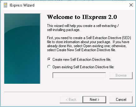 2. By using IExpress By using IExpress tool you can create EXE format installer executable file from MSI setup file to release MultiFactorAuthInstaller in standard EXE installer setup format.
