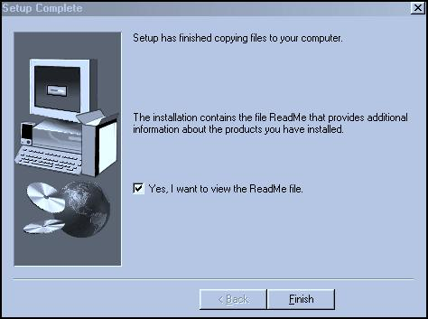 Installation-Windows 98/Me (continued) Fig. 70 Configure Your Printer. Click Next. Fig. 72 ReadMe file.