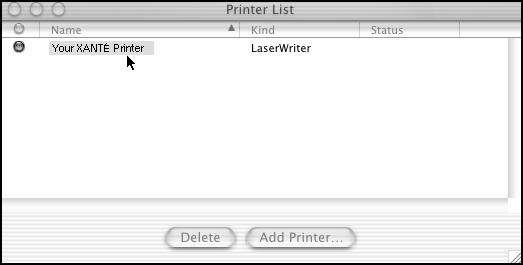 27 Note: Go to File: Page Setup to make sure your printer appears in the Format For drop-down menu. If it says Generic, call XANTÉ Technical Support at 800-926-8393 (US and Canada).