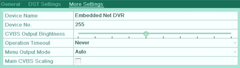 User Manual of Digital Video Recorder 13.3 Configuring More Settings 1. Enter the General Settings interface. Menu > Configuration > General 2.