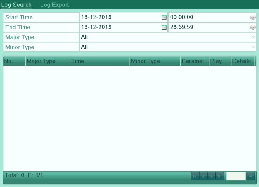 Figure 6. 16 System Log Search Interface 3.