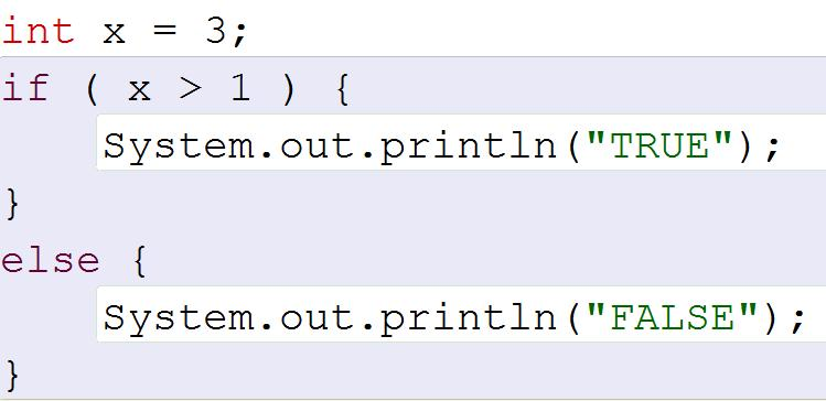 Java Boolean Expressions A conditional statement is a line of code that only activates if the relationship inside of the parenthesis evaluates to true. You must have parenthesis after an if statement.