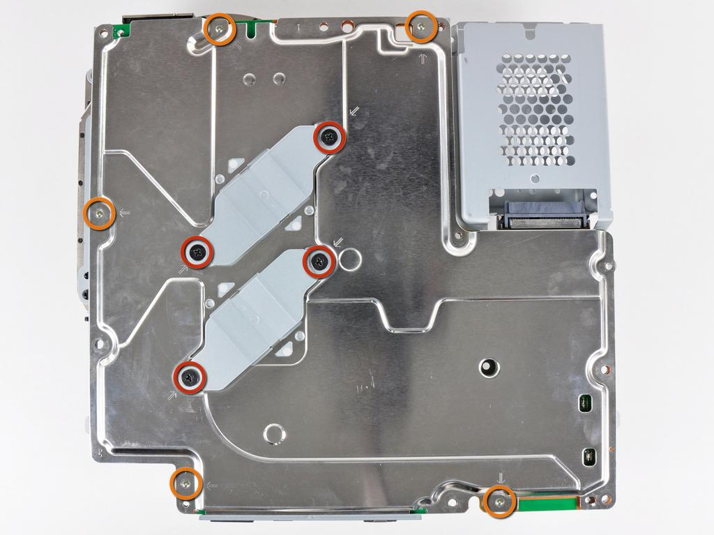 PlayStation 3 Slim Heat Sink Replacement Step 27 Remove the following nine