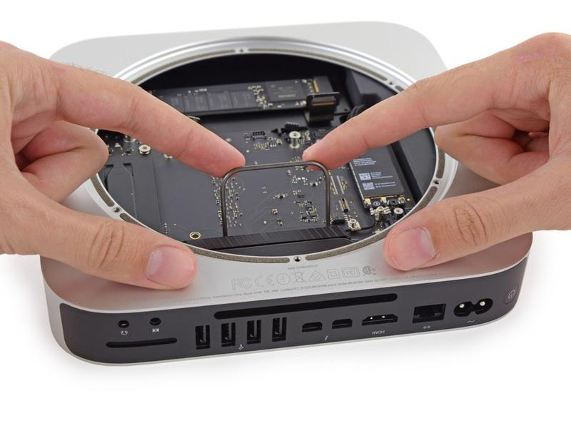 make contact with the case under the logic board before