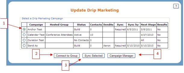 1. All f yur Drip Marketing Campaigns (with Swiftpage Cntact List as their surce) are shwn here.