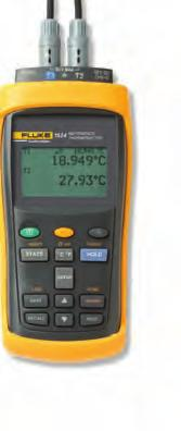 Fluke Calibration 1523 and 1524 Reference Thermometers Fluke 1524 Fluke 1523 The 1523/1524 Reference Thermometers from Fluke Calibration measure, graph and record PRTs, thermocouples and thermistors.