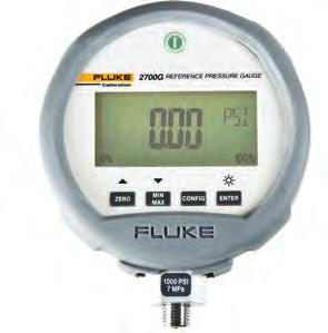 Fluke Calibration 2700G Series Reference Pressure Gauges Fluke 5514 Fluke 2700G Fluke P5510 The Fluke Calibration 2700G Reference Pressure Gauges provide best-in-class measurement performance in a