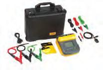 Kits Fluke 1555 10 kv Insulation Tester Kit Fluke 1555 Insulation Resistance Tester Fluke IP67 Hard Case Test Leads with