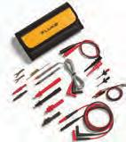 Micro-Hook Test Lead Set 1 pair (red, black) of test leads with multi-stacking 4mm banana plugs and micro-hooks 90cm long PVC insulated