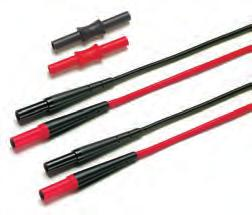 Fluke Test Leads, Probes & Clips Modular Test Leads TL221 SureGrip Extension Lead Set One pair (red, black) of silicone