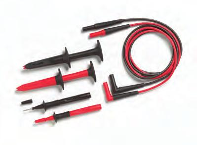 TL27 Heavy Duty Test Lead Set DMM test leads (red, black) with safety shrouded, standard diameter banana plugs Heavy duty EPDM