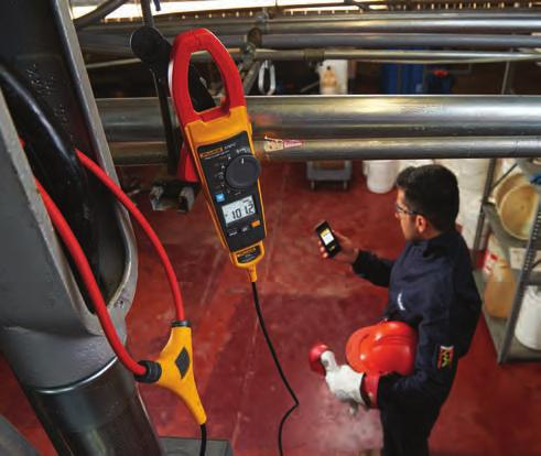 Create and send reports right from the field The iflex flexible current probe allows easy measurements around wires in