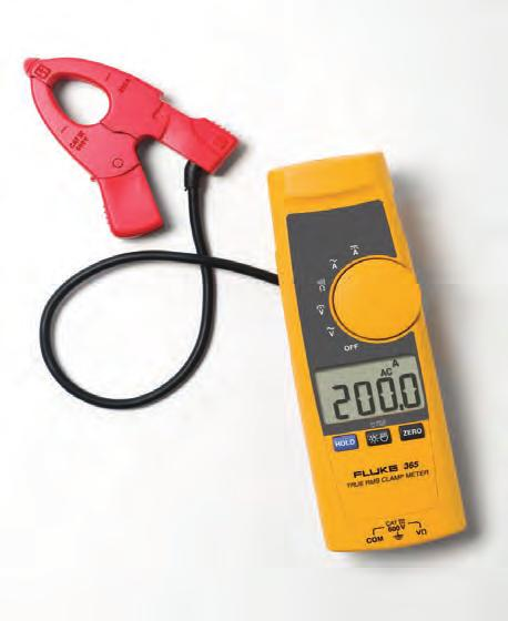 Clamp the Fluke 381 around a conductor, remove the display and walk across the room to operate controls or remove protective equipment, all while watching real-time readings.