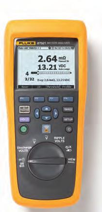 Fluke BT500 Series Battery Analysers Fluke BT521 Fluke BT510 More battery tests. Less time.