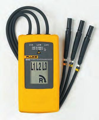 Fluke 9040 and 9062 Phase Rotation Indicators Take the guesswork out of phase/motor rotation measurements Fluke 9040 Phase Rotation Indicator The Fluke 9040 is effective for measuring phase