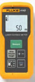 Fluke 424D, 419D and 414D Laser Distance Meters Fluke 419D Fluke 424D Fluke 414D Introducing the next generation of Fluke Laser Distance Meters Measure farther, with greater accuracy, in more