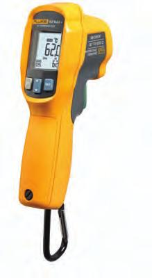 Fluke 62 MAX and 62 MAX+ Infrared Thermometers Fluke 62 MAX+ Fluke 62 MAX Dust and water-resistant: IP54 rated for dust/water resistance Rugged: 3m drop tested Ergonomically designed: Completely