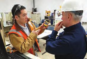 IMPROVE SAFETY The Fluke Connect app and enabled tools improve the safety and convenience of electro-mechanical maintenance and