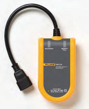 Fluke VR1710 Power Quality Recorder Fluke VR1710 Easy-to-use solution for detecting and recording voltage quality problems The Fluke VR1710 is a single-phase, plug-in voltage quality recorder that