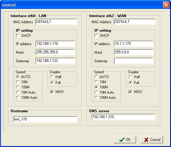 Network Setting GUI GUI interface for network setting is available from the configuration file editor Network Graphic or directly form main window using speed button Remote control & IP/Ethernet