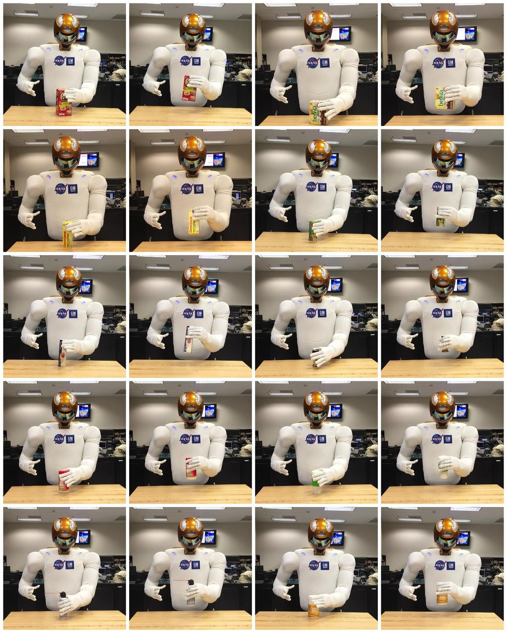 Associating Grasping with Convolutional Neural Network Features 19 Fig. 10. Robonaut-2 grasping 10 different novel objects.