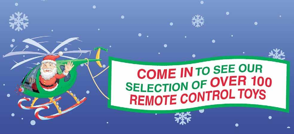 Special Holiday Hours Sunday 9am-8pm, Monday-Friday 8am-pm Saturday 9am-pm, REMOTE CONTROL MOTORBIKE Forward, Reverse, Left and right #6205230 1 REMOTE CONTROL MICRO DOLPHIN HELICOPTER Function: