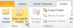 Sorting, Filtering & Finding Email Items Search Folders Level 1/Guide F, p.