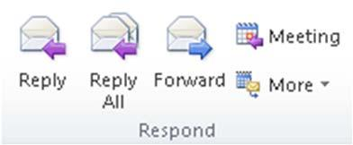 2 Replying to an Email Message To reply to a message: Click the Reply or Reply All button Forwarding an Email