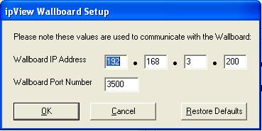 6. Within the IP configuration tool, check the Communication IP