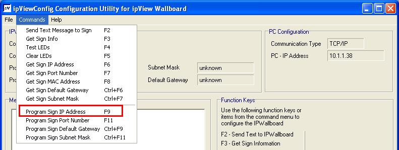 If it isn t select File and Set up and change the IP address to 192.
